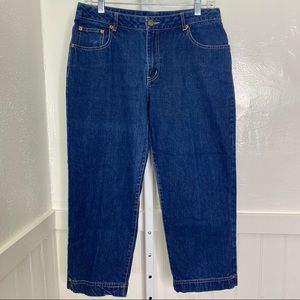 Zara BCBG Women's Cropped Dark Wash Jeans Size 10